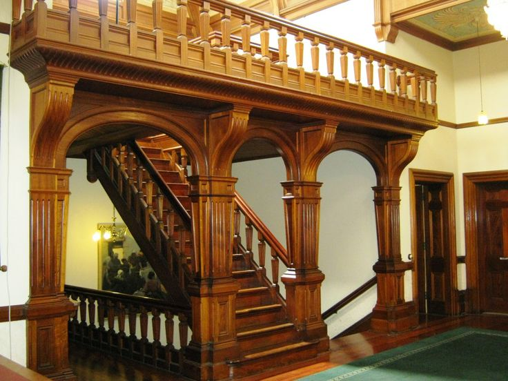 Staircase from Main Hall of Urrbrae House