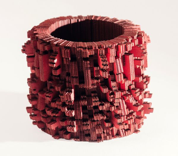 Genevieve Howard, National College of Art and Design, Dublin - enevieve The 'Kapustin' bangle from 700 pieces of laser cut Japanese linen card: