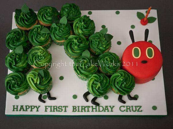 Caterpillar cupcake, Birthday, Birthday cake, Boy, Boys, Butterfly cake, Cake Works, CakeWorks, Characters, Co. Durham, Cup cake, Cupcake, Darlington, Darlington Cakes, Fairy cake, Hungry Caterpillar, The very hungry caterpillar, theCakeWorks
