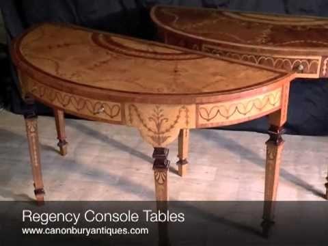 Regency Console Tables Http://www.canonburyantiques.com/pages/product