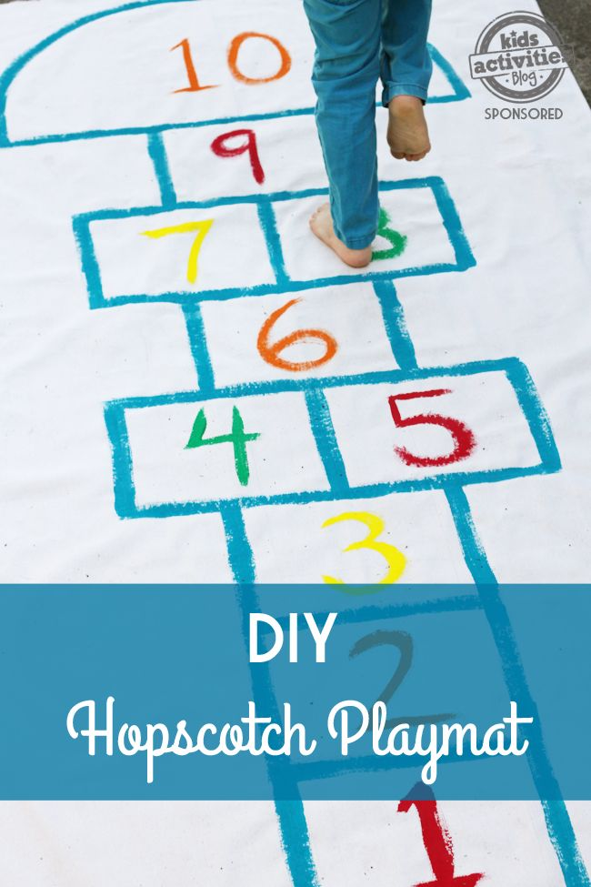 Learn how to create this simple and fun hopscotch play mat and spark hours of active play.