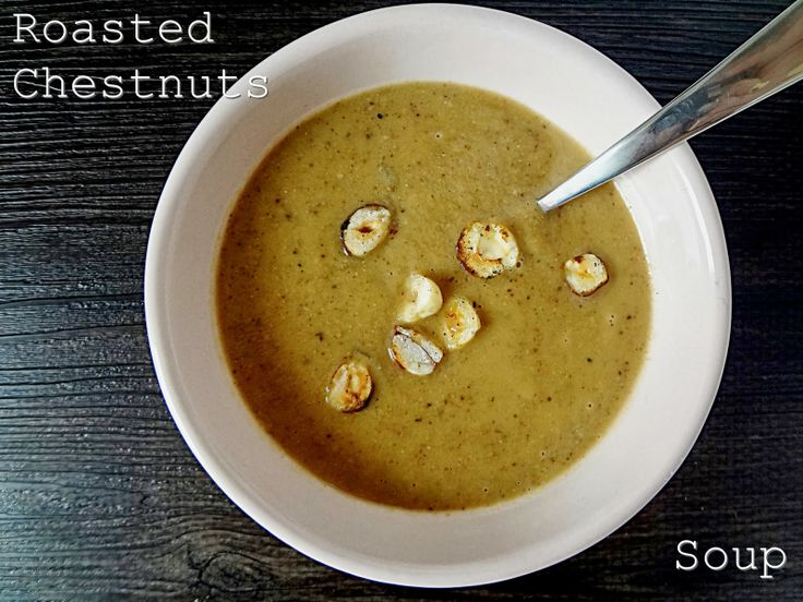 Roasted chestnuts soup