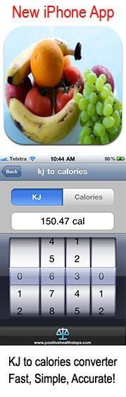 Calorie count for fruits and vegetables