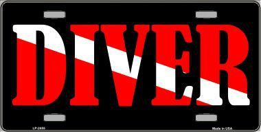 """Now available at our store: Diver 6"""" X 12"""" Metal License Plate Check it out here! Diver 6"""" X 12"""" Metal License Plate"""