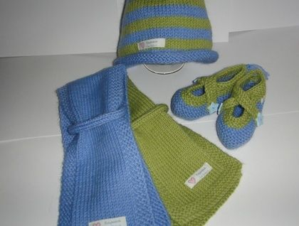 Baby Beanie, Scarf and Shoes Story