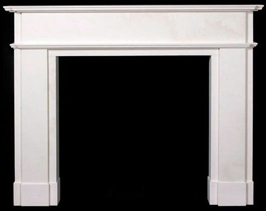 Contemporary Oxford Marble Mantel | Simple Marble FIreplace | Marble Mantels Simple