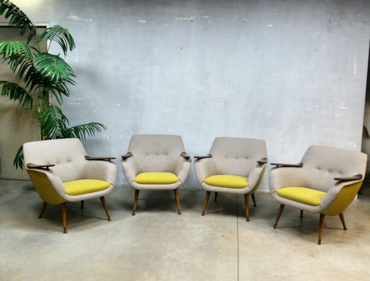 Completely refurnished, great set vintage fifties armchairs www.bestwelhip.nl