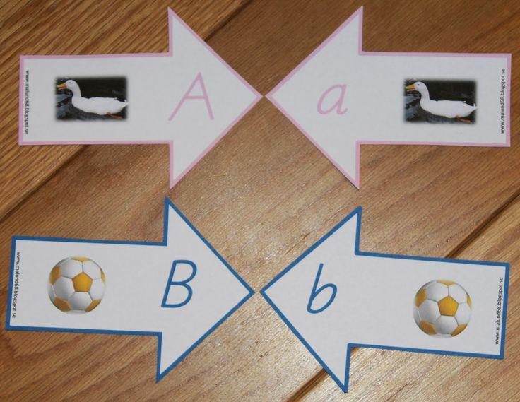 Min blogg om allt mellan himmel och jord: Montessorimaterial: Bokstavspilar med rosa vokaler