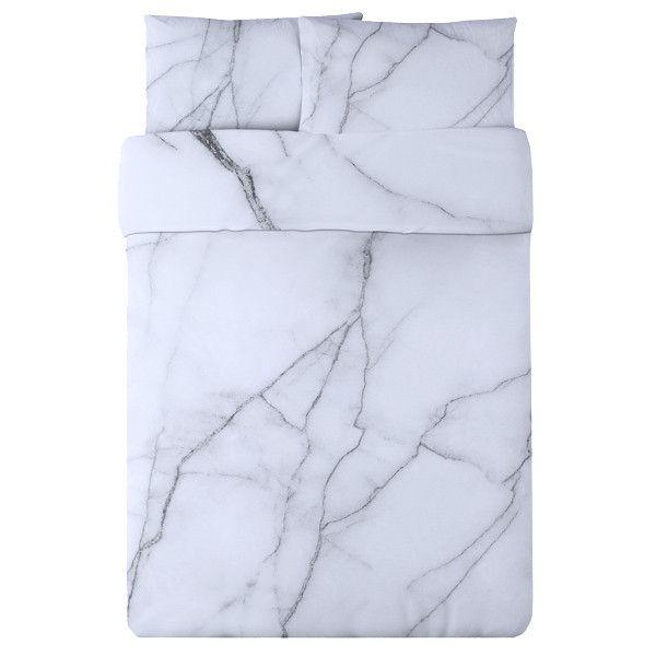 White Marble Duvet Set