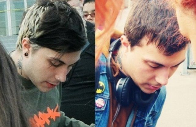 Frank Iero (then and now) Same man, different tattoos