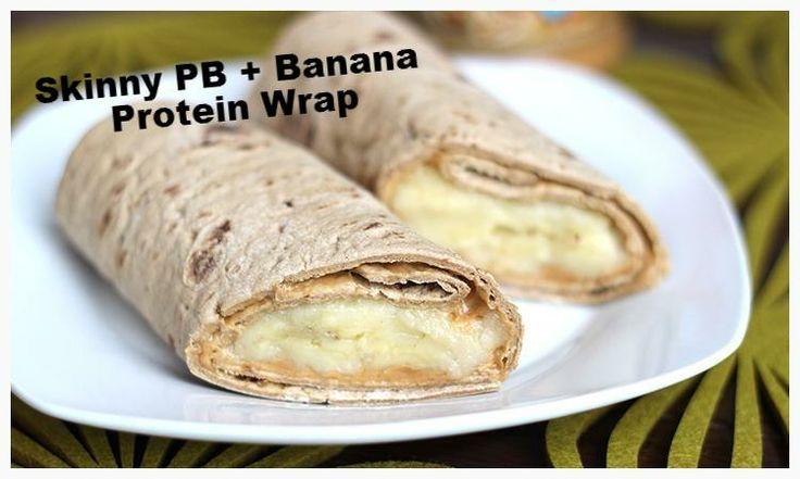 Skinny PB   Banana Protein Wrap via @Tina Orlandi Mom - Healthy Living for Women/ / #banana #wrap #snack #protein