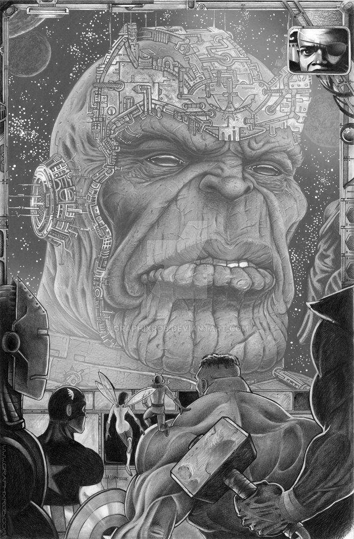 Avengers vs Thanos by GraphixRob