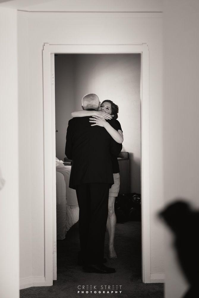 Bride and Dan Hug