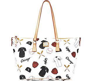 Dooney & Bourke MLB White Sox Zip Top Shopper