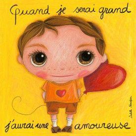 """Tableau d'Isabelle Kessedjian """"Quand je serai grand, j'aurai une amoureuse"""" - Le Coin des Créateurs"""