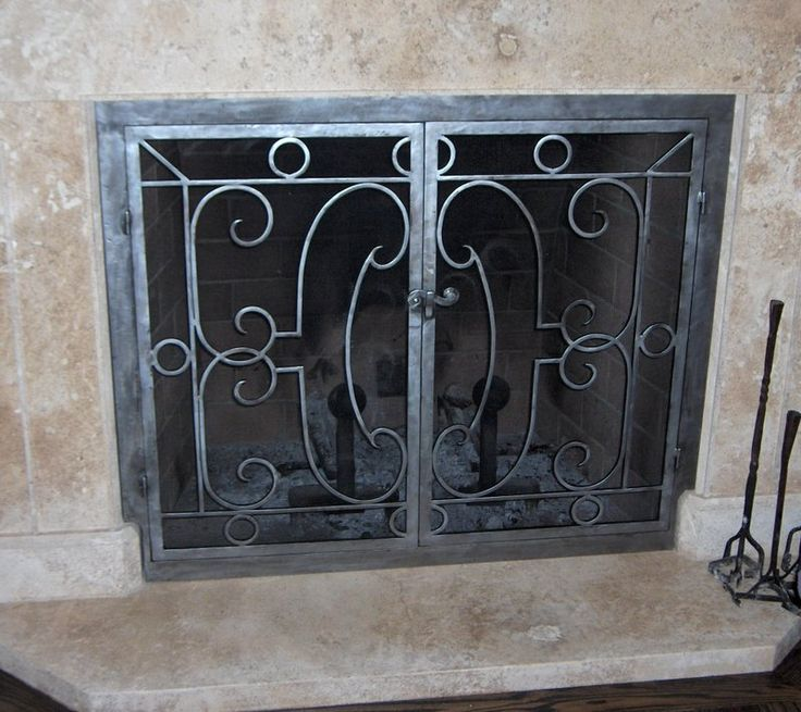 Custom fireplace screens, fireplace accessories