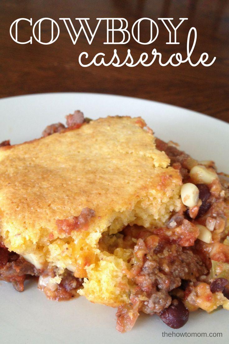 Cowboy Casserole - beefy, cheesy, cornbread-y with a bit of a kick!