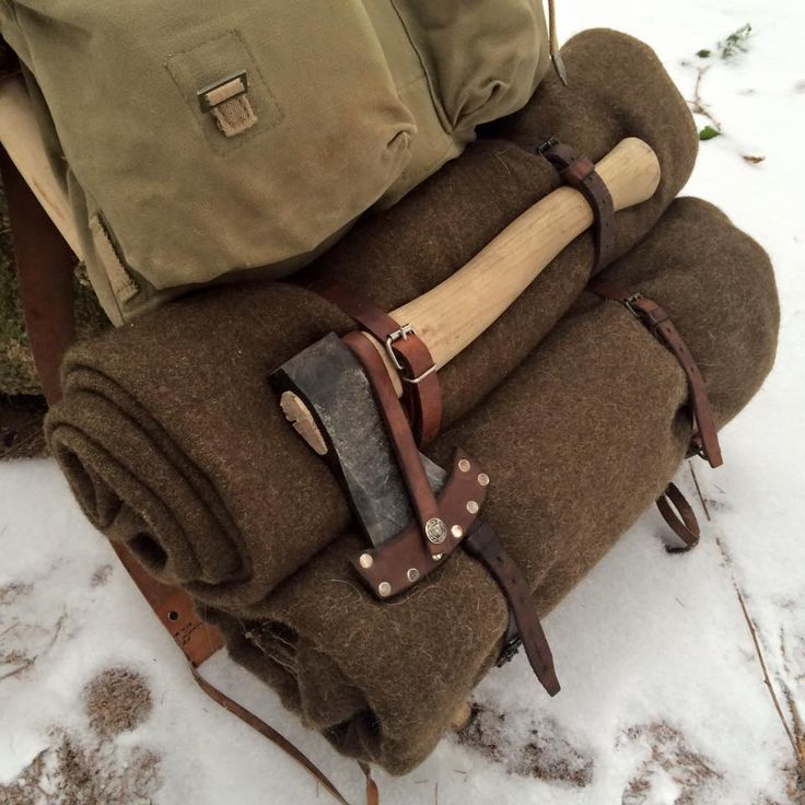 Vintage Pack, Wool Blankets, and a good Axe.