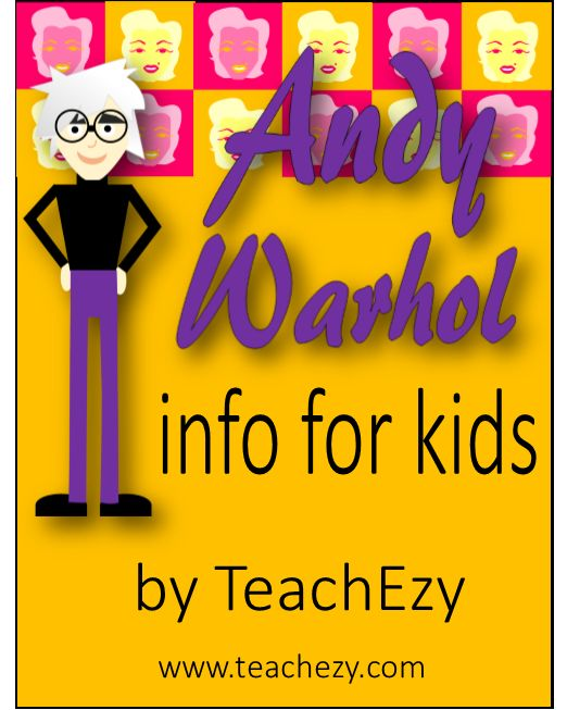 Andy Warhol Biography-Information for Kids. Interesting #art facts about #popartist #Andy Warhol. www.teachezy.com