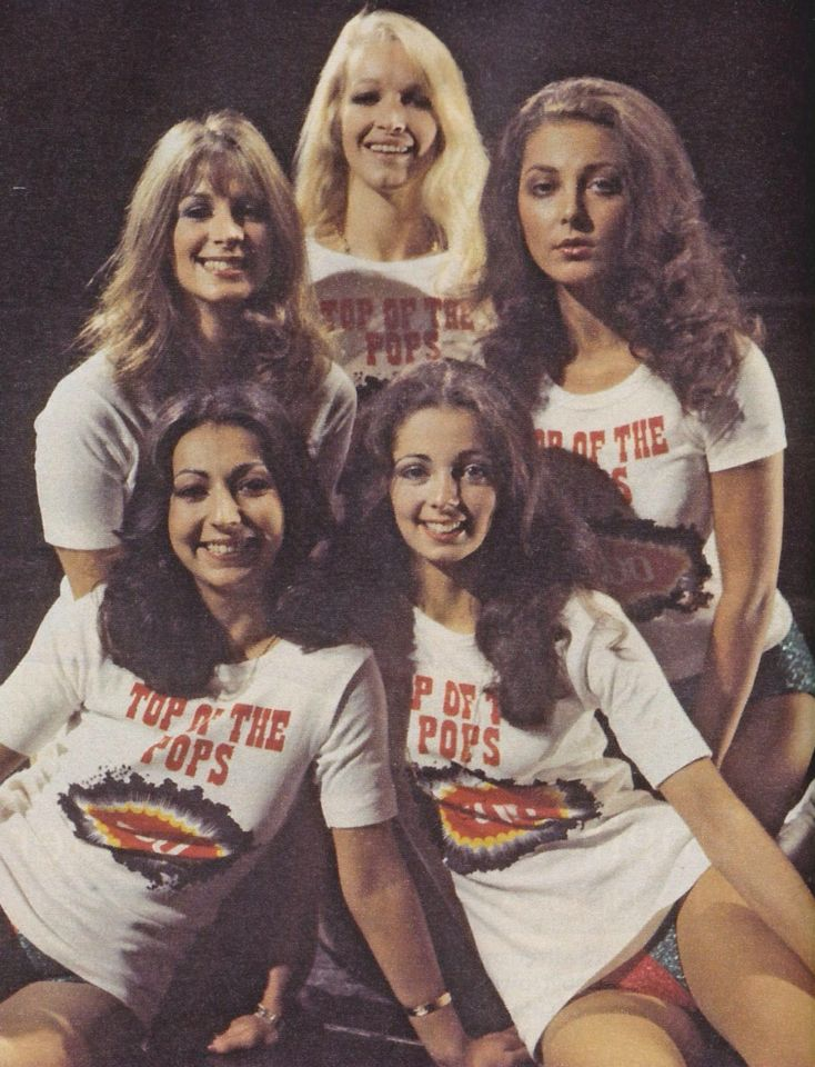 Pan's People on Top of the Pops. Had a huge crush on all of them.....especially Babs and Cherry.