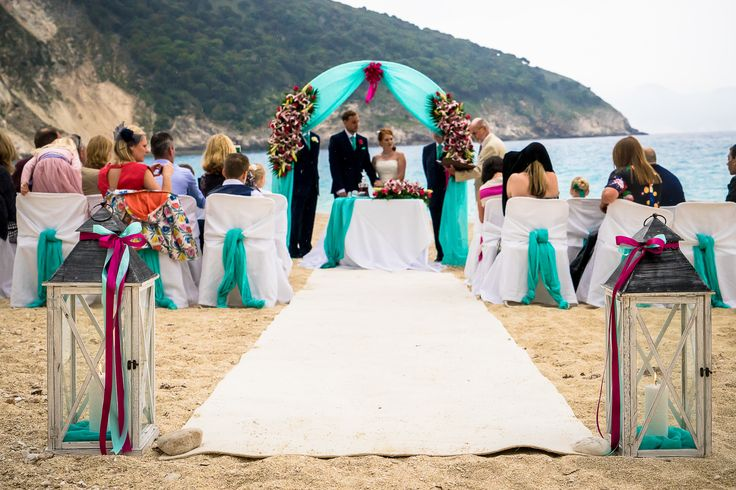 A wonderful ceremony set up #beachwedding #weddingingreece #mythosweddings  #kefalonia