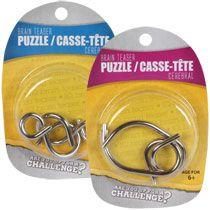Small 2-Piece Metal Puzzles  could be good 4 boys to mess with