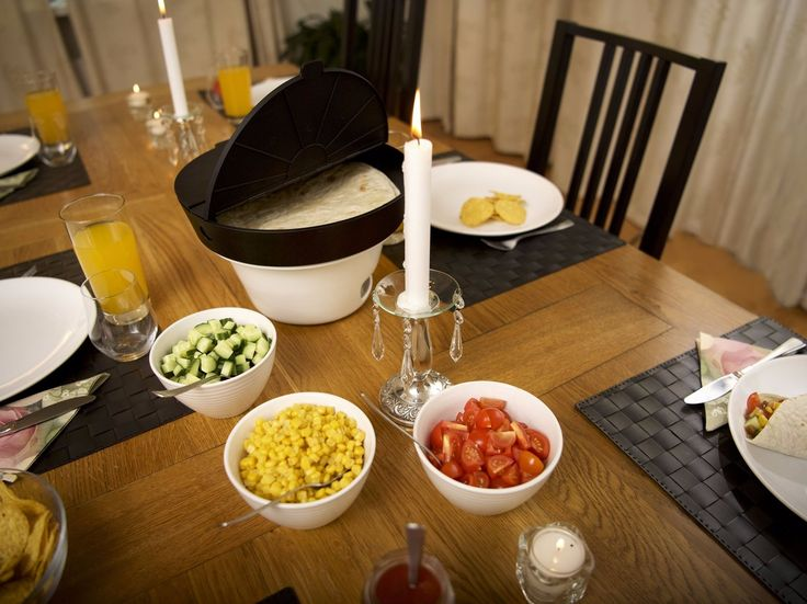 We made The Taco Server because we like our taco meat and our tortillas/shells hot. Most people are suffering from cold tacos & tortillas after the first serving. The Taco Server keeps the taco ingredients hot throughout the whole meal, making it easy to serve, looks great on the table and gives the whole taco experience a boost.