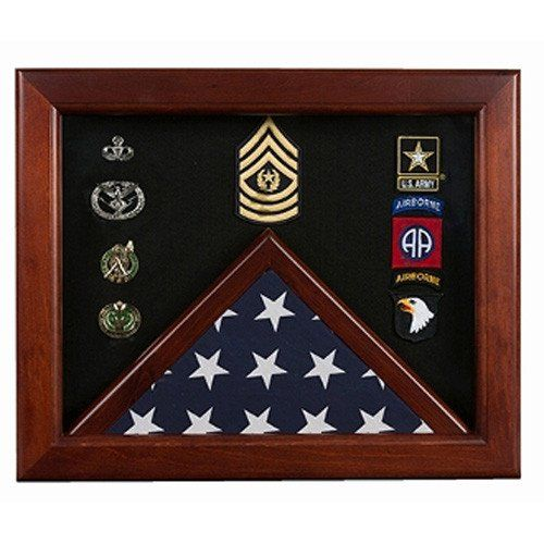Master Sergeant Flag Display Cases - Master Sergeant Gift Hand Made By Veterans