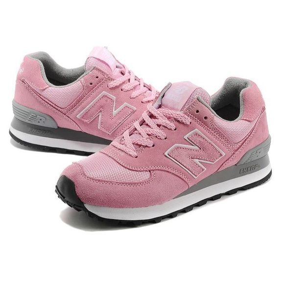 Pink New Balance 574 Sneakers These sneakers have been worn for a few seasons but are still in really good shape! New Balance Shoes Sneakers