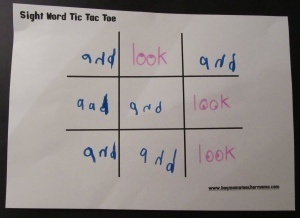 Try this: Site Word Tic-Tac-Toe.... I love games that sneak in spelling practice!