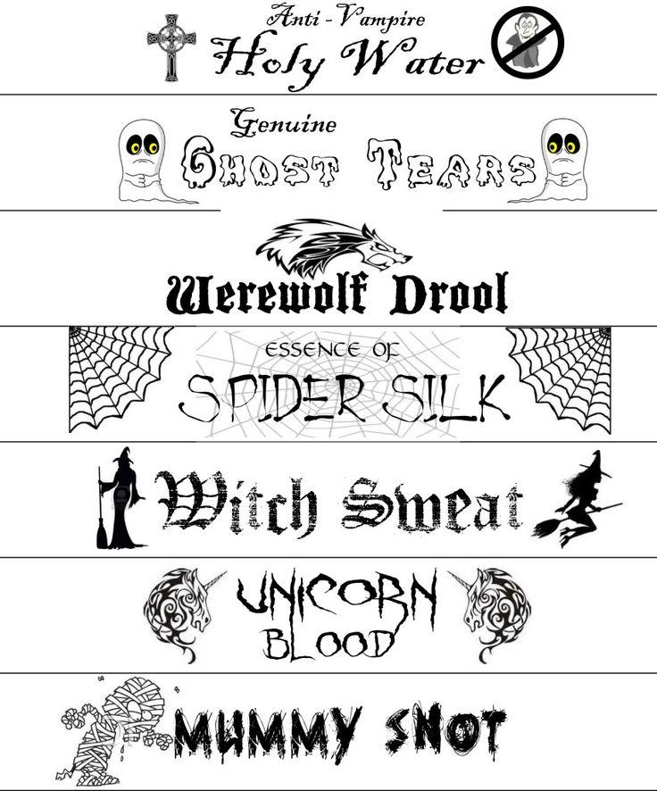 Printable labels for Halloween  DMF