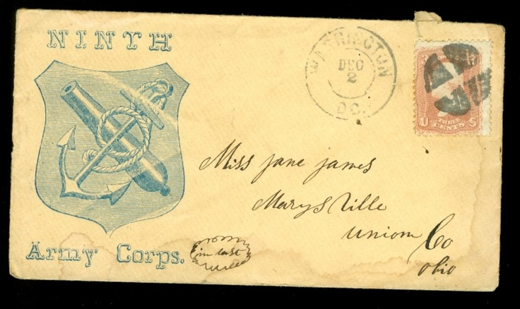 Rare Civil War corps badge envelope | Rob's Stuff I Like ...