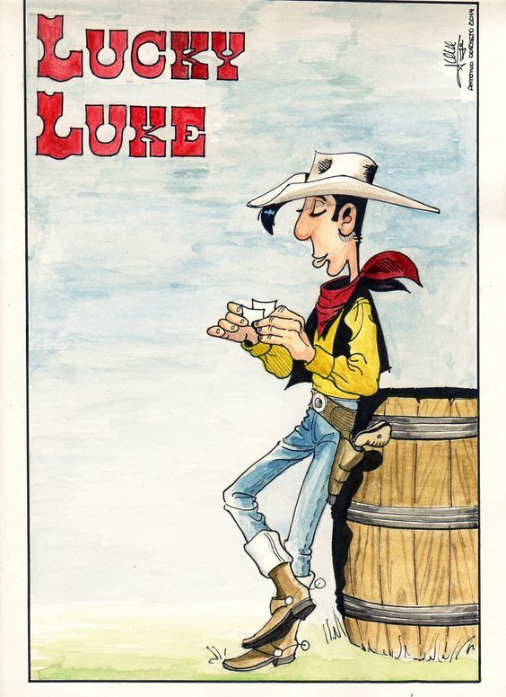 lucky luke,dibujo by tony cornejo niederle.: