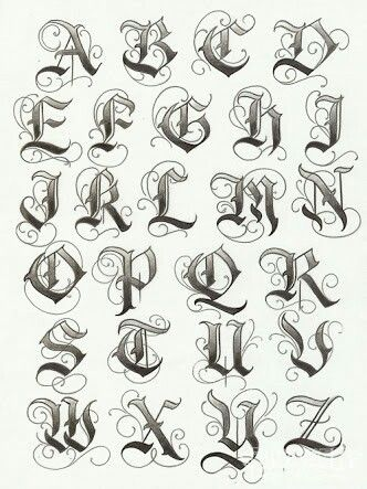 Old english font for name tattoos