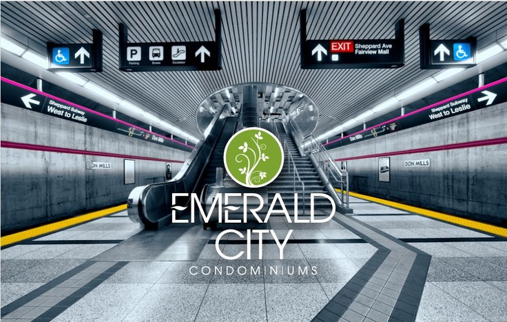On the Subway! One of the best things about living at Emerald City.