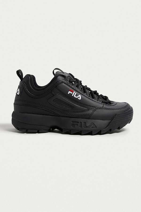 3786562ac7 FILA Disruptor Women s Core Black Trainers in 2019