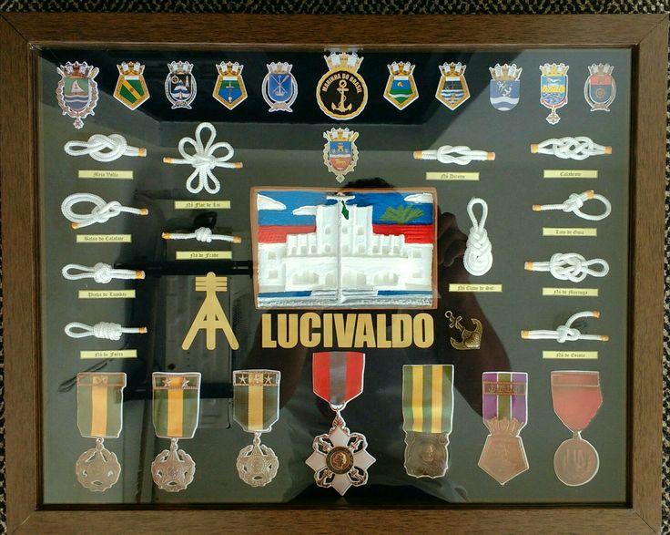 Quadro com medalhas