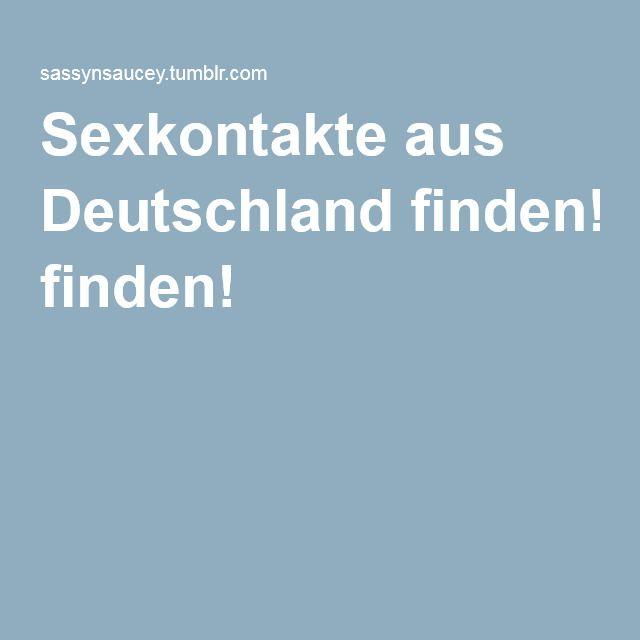Sexkontakte aus Deutschland finden!