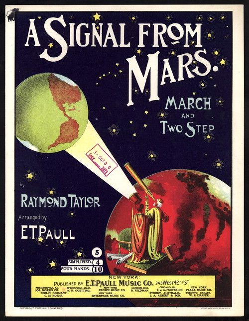 1901 A signal from Mars / Raymond Taylor [sheet music]:Sheet Music Page Turner: Performing Arts Encyclopedia, Library of Congress