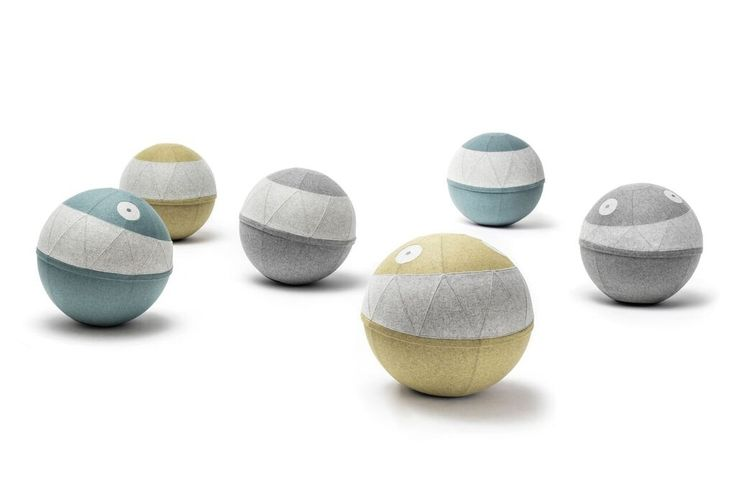 #Rollo #Rebel and #Classy #Noti #design @KatarzynaOkińczyc #pouff #upholstered #ball #chair #wool #modern #furniture #aqua #stone #moss #pastel #colors #livingroom #friend #officefurniture #65cm