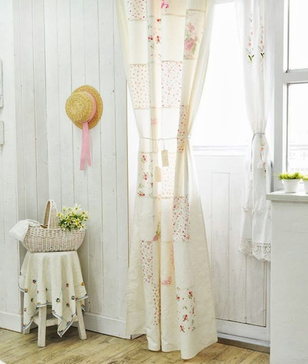 Shabby+Chic+Curtains+in+Living+room Shabby Chic Patchwork Curtain DIY Part 23