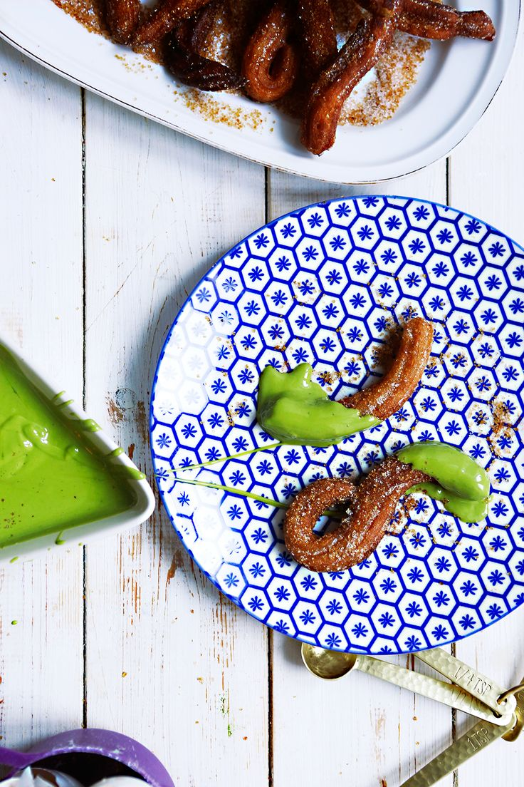Check out this Cinnamon Churros with Matcha White Chocolate dip