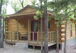 7. This is one of the many cabins that you could rent and stay in while visiting Turner Falls Park. While you are at Turner Falls Park, you could hike, explore caves, fish, swim in one of their many swimming areas, slide down a water slide, and so much more. So, if you are thinking of having a great time outside, I would head for Turner Falls Park. Turner Falls can be found in Davis, Oklahoma.