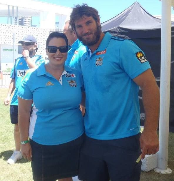 My favourite picture! Dave Taylor and I at the Titans members Christmas party 2012.