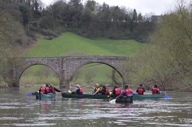 Full day Guided Canoe Trip down the River Wye A Full day guided canoe trip on River Wye small groups max 6 canoes suitable for families, couples no experience required. Explore and enjoy some of the scenery that the Wye Valley has to offer from the river. Well located for Kingsholm, Gloucester, and Millennium Stadium Cardiff and Birmingham and Bristol.The Wye Valley and Forest of Dean is an area of outstanding natural beauty and has so much to offer in the way of history and h...