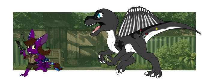 Primal carnage Anais and Naeda run dino by Anais-thunder-pen