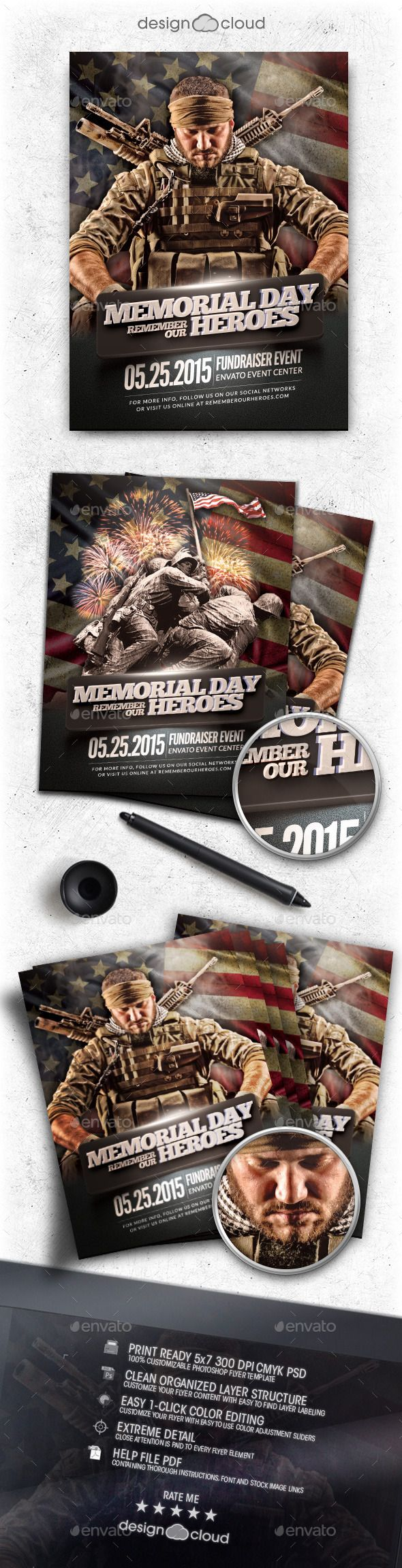 17 best images about 101 national holiday flyer memorial day remember event flyer template