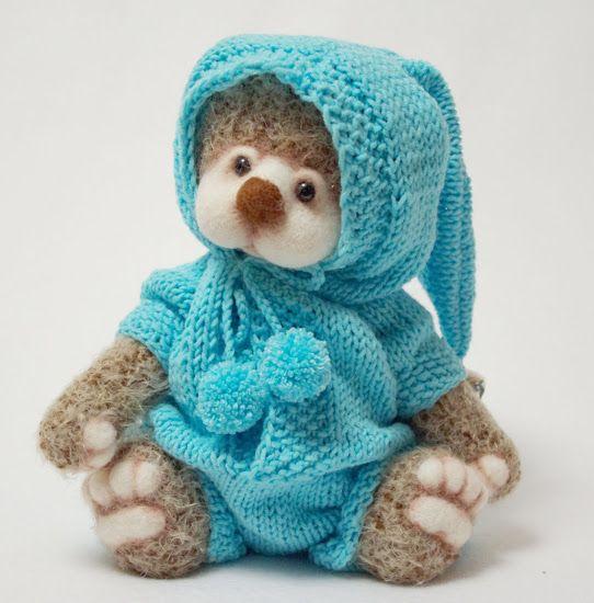 мк, вязаный комбинезон, одежда ля куклы,  одежда для мишки