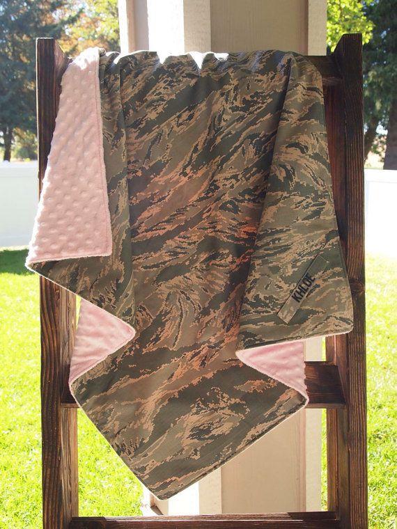 U.S. Air force ABU Baby Blanket by Abuandlace on Etsy