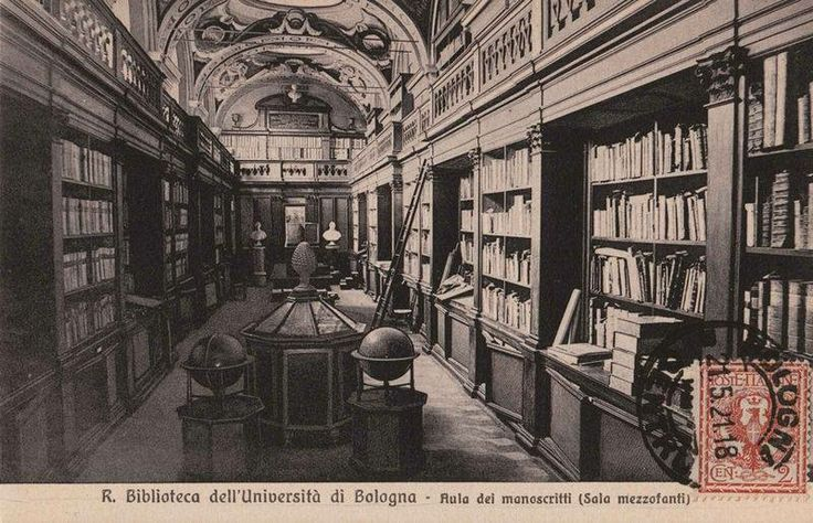 La bibliothèque universitaire de Bologne (en italien : Biblioteca Universitaria di Bologna) ou en abrégé BUB, d'après une carte postale du début du xxe siècle.